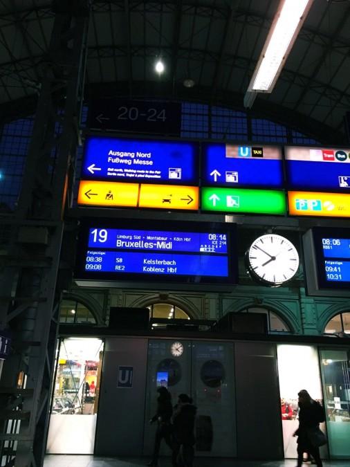 ドイツからベルギーへ高速鉄道