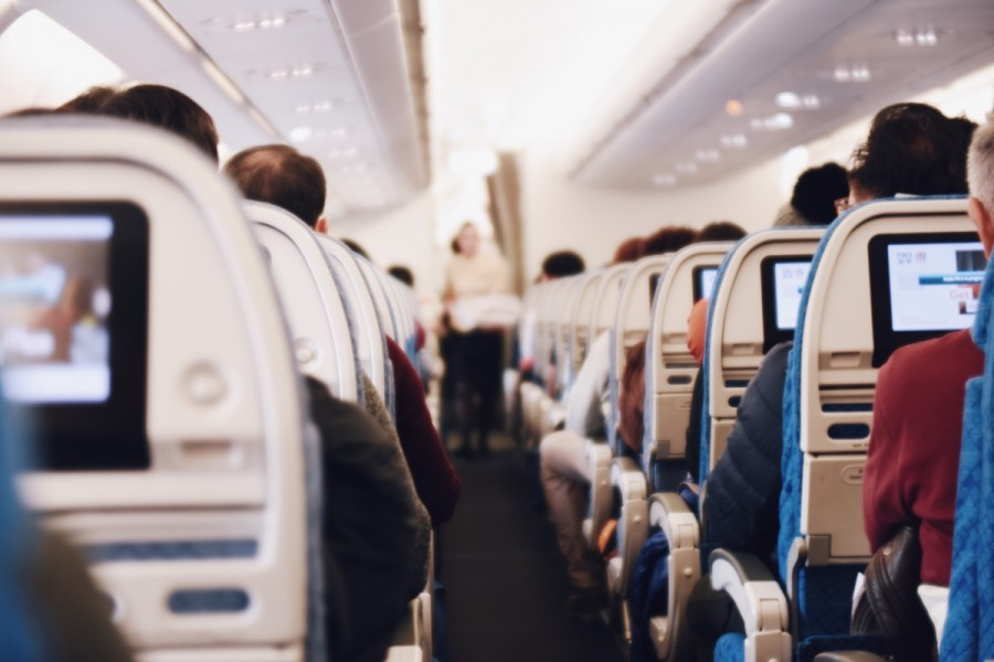 飛行機内での入国カード