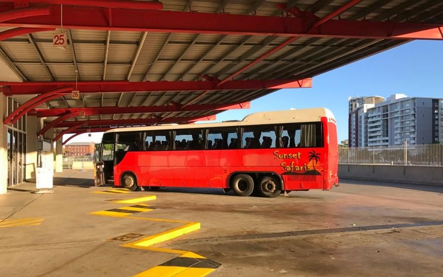 モートン島へのツアーバス