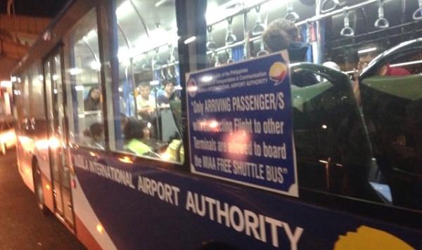 マニラ空港、無料シャトルバス