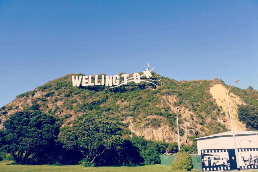 飛ばされる「Wellington」のサイン