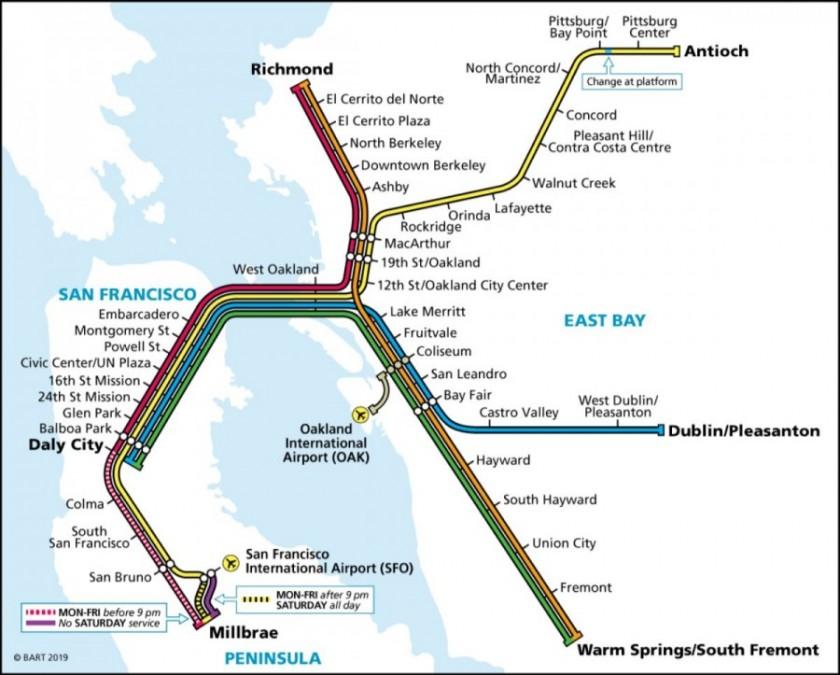 サンフランシスコ 電車 路線