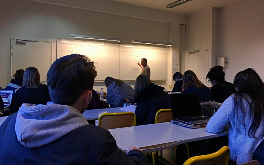 フランス留学での授業の様子