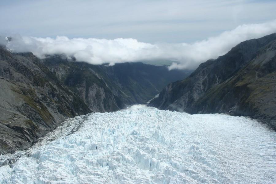フォックス氷河とフランツジョセフ氷河