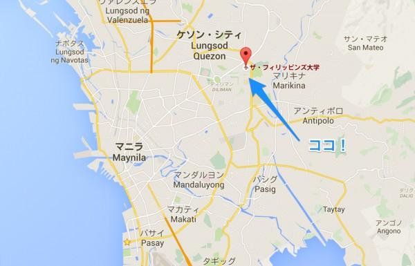 フィリピン大学の地図