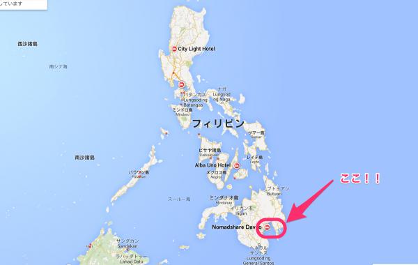 フィリピンの地図