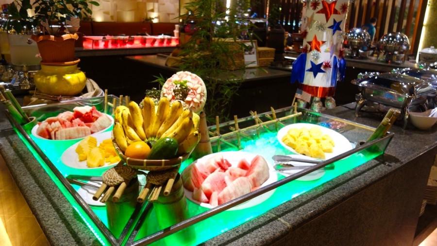インターナショナルレストラン「UNO」のフルーツコーナー