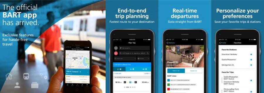 サンフランシスコBARTアプリ