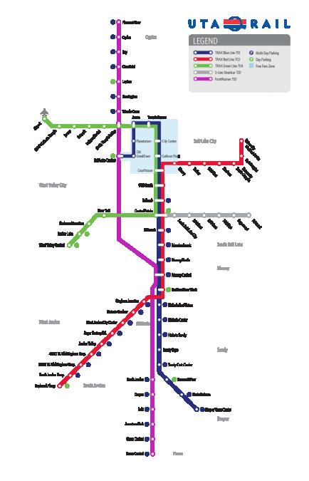 TRAXの路線図