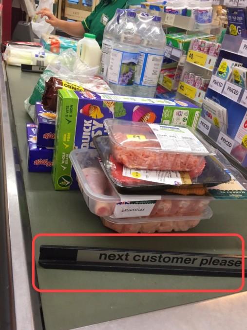イギリスのスーパーのレジ