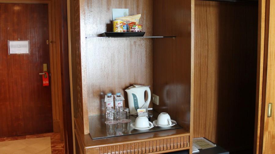 スーペリアルームのポッド・冷蔵庫