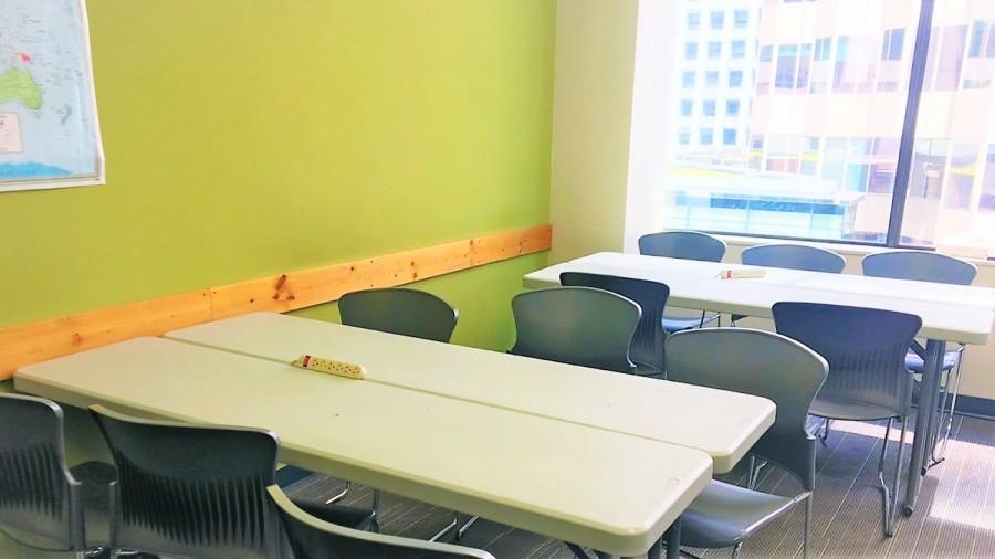 バンクーバーの語学学校の教室
