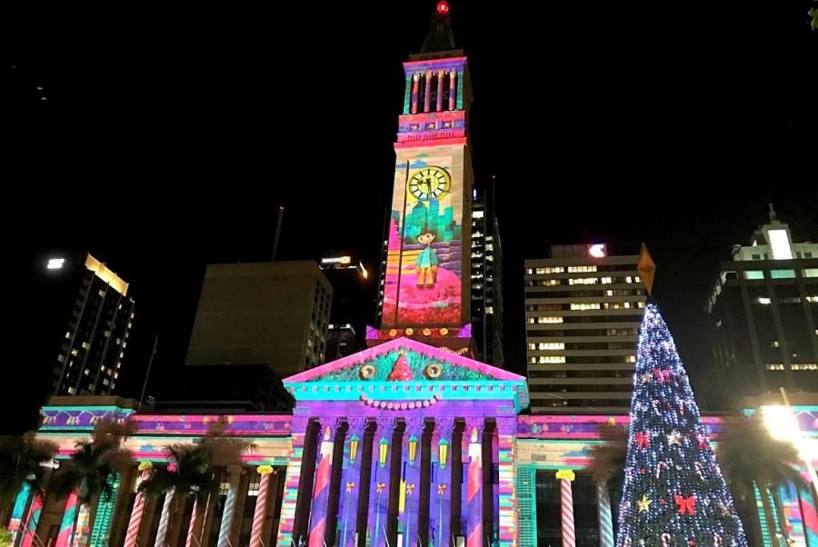 オーストラリアのクリスマス 時計台