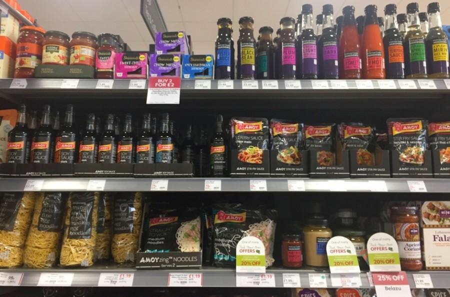 イギリスのスーパーマーケット、アジア食材