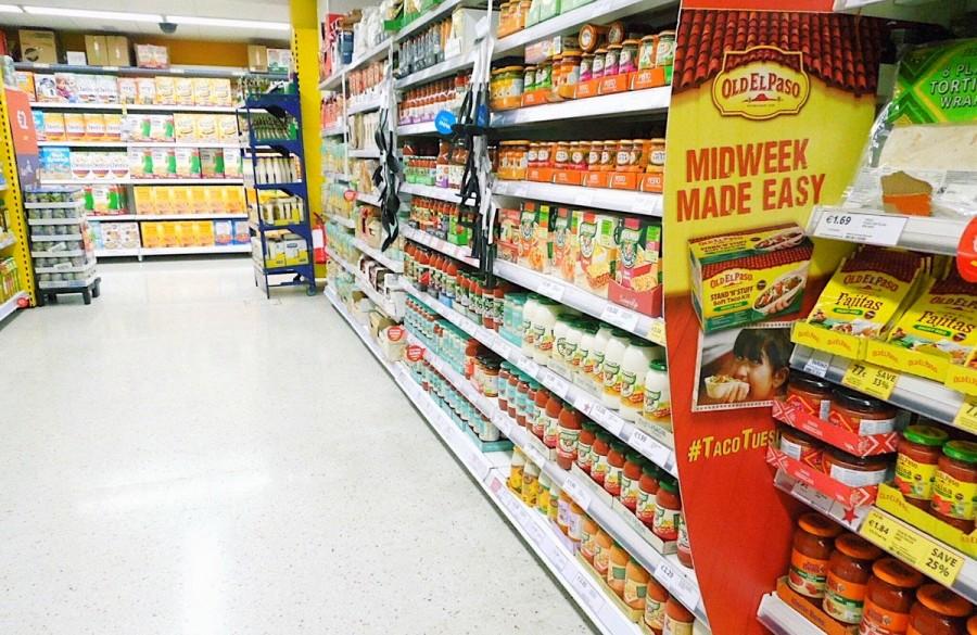 アイルランド・ダブリン市内のスーパーマーケット