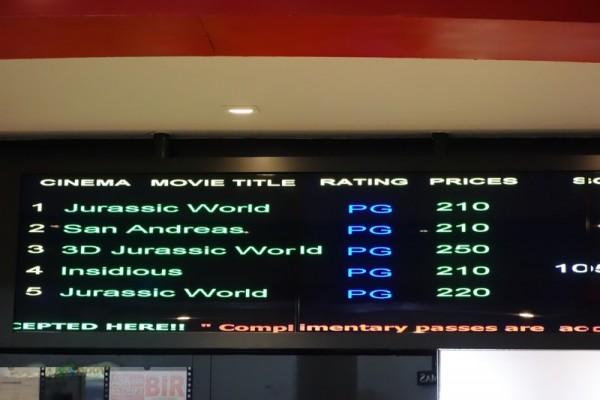 フィリピンの映画館のチケット売り場
