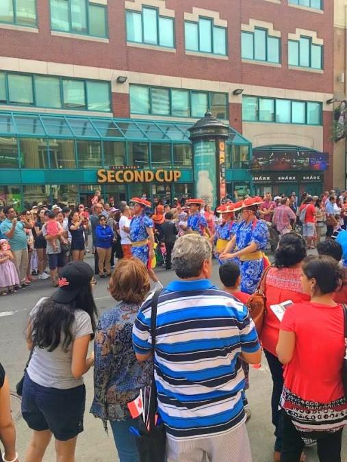 モントリオールのパレードの様子
