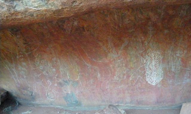 エアーズ・ロック(ウルル)の壁画