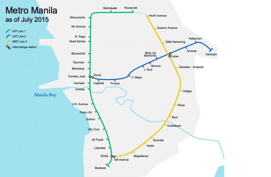 LRT/MRT路線図