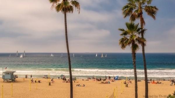 ロサンゼルスのサンタモニカビーチ