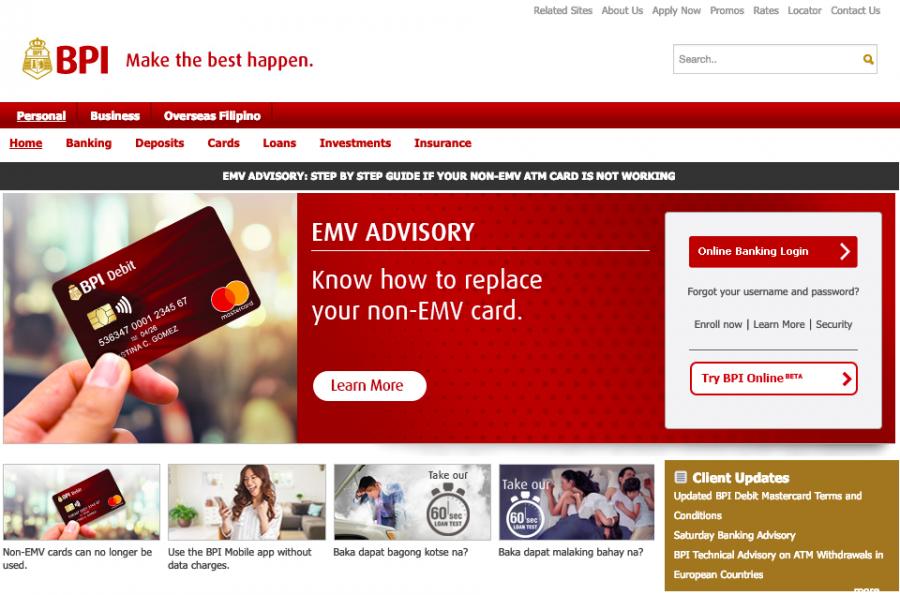 フィリピン 銀行口座開設 BPI
