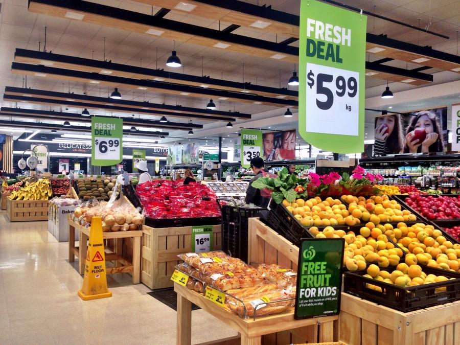 スーパーマーケット・入り口