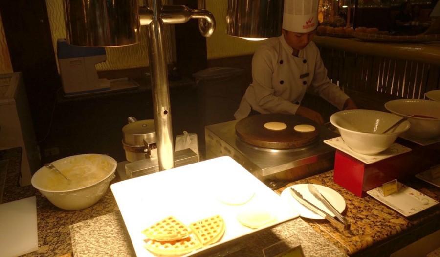 インターナショナルレストラン「UNO」のデザートコーナー