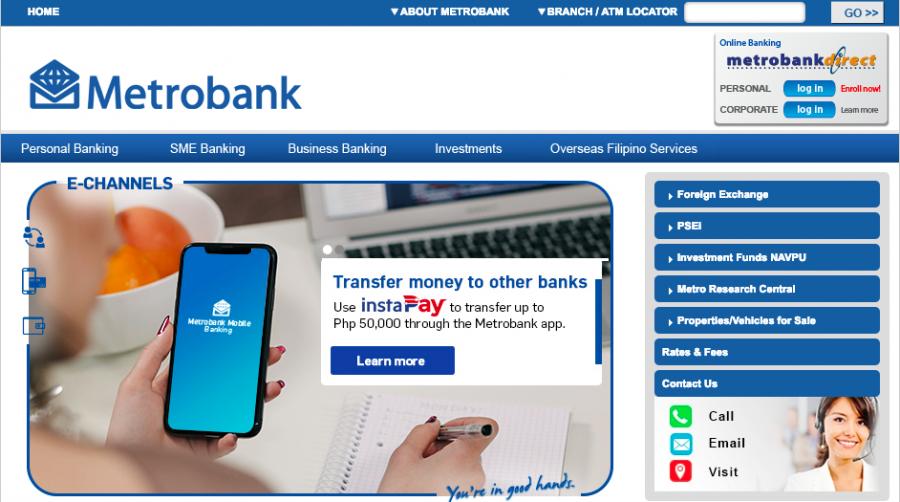 フィリピン 銀行口座開設 Metrobank