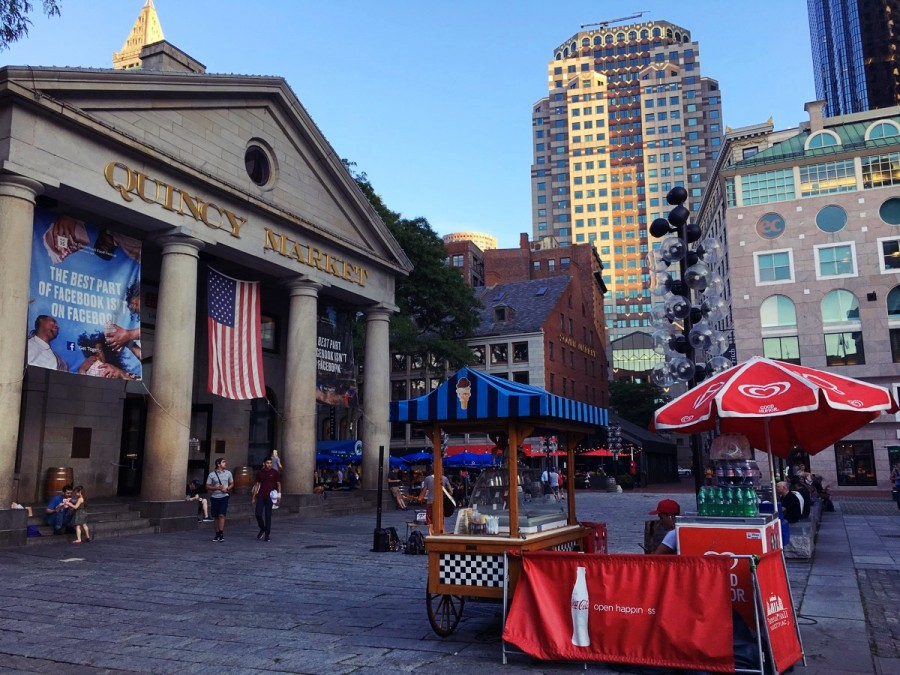 ボストンのダウンタウンの街並み