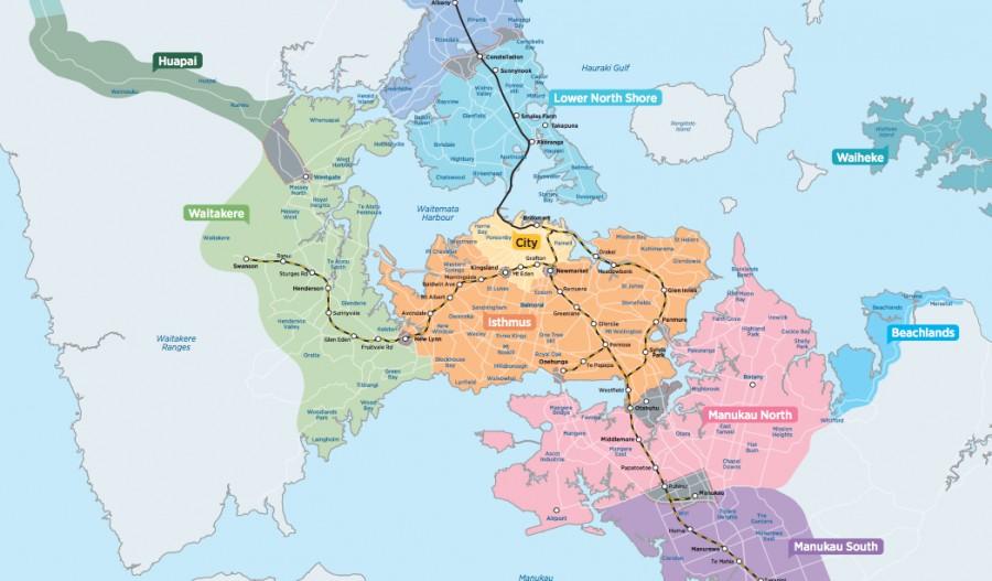 オークランドの電車・バス料金、ゾーン制度に関して