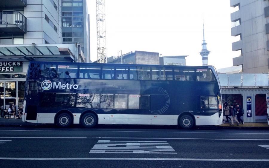 ニュージーランド・オークランドのバス