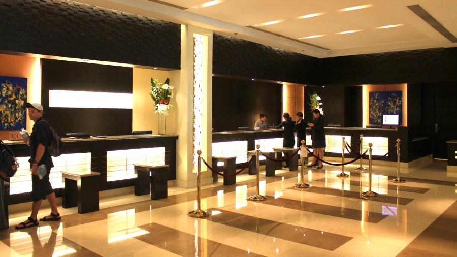 ウォーターフロントセブシティホテル&カジノの受付