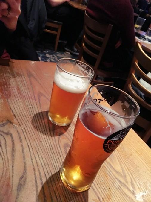 ビールを飲んで息抜き