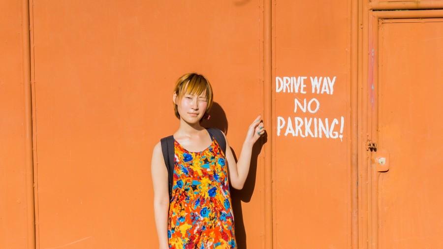 オレンジのドア