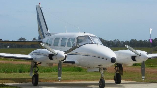 オーストラリアのスカイダイビングで使用したプロペラ機