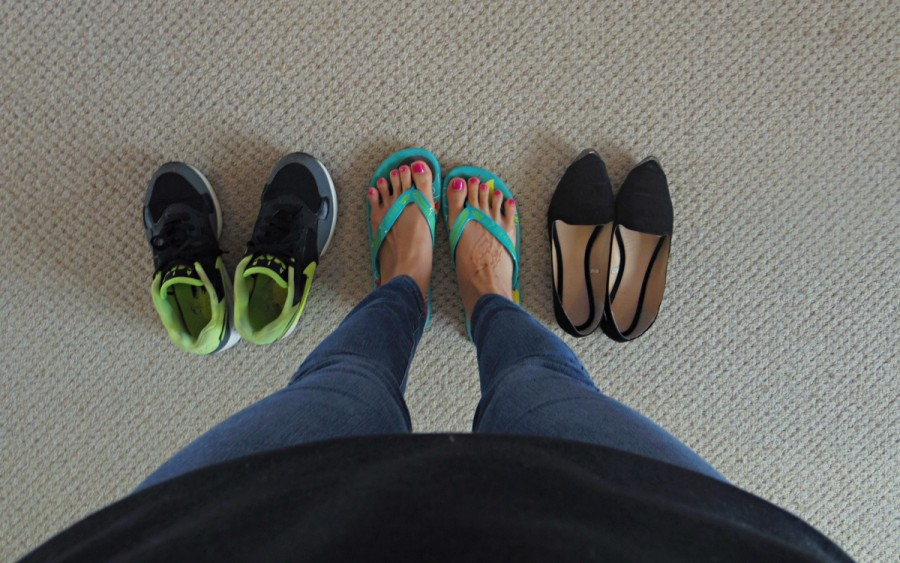 運動靴・ヒールのない靴