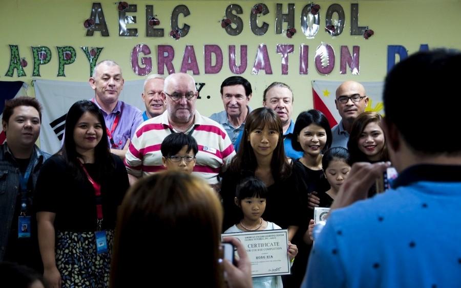 語学学校の卒業式