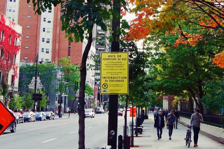 モントリオールにあったフランス語の標識