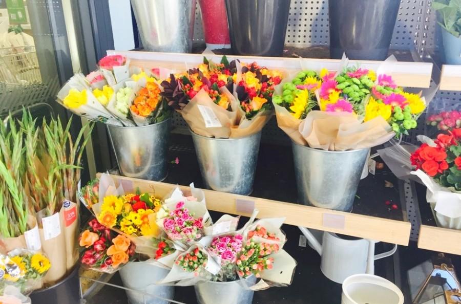 イギリスのスーパー、花束