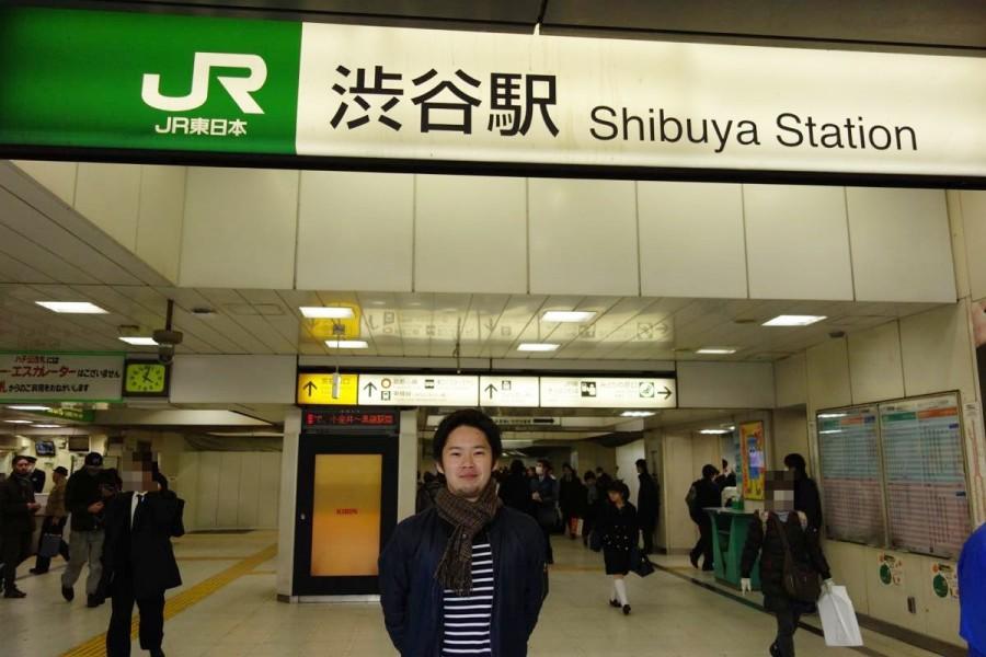 渋谷に到着したありぺい