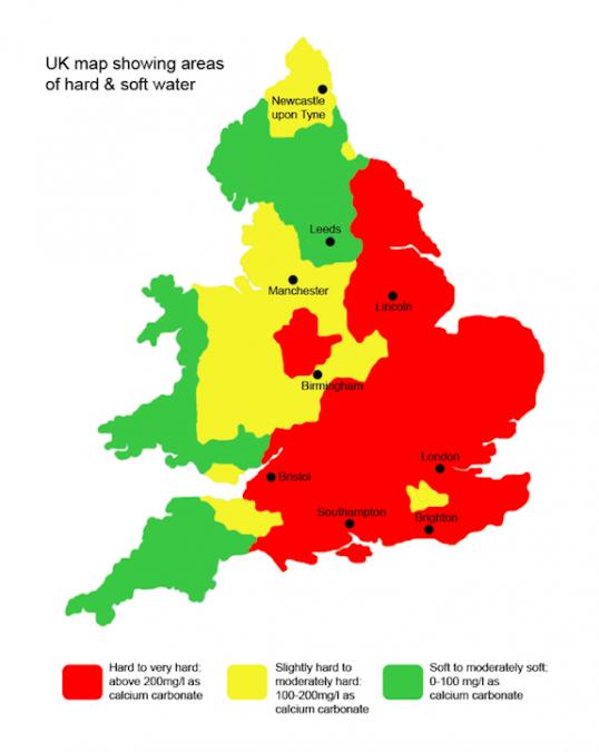 イギリス 水道マップ