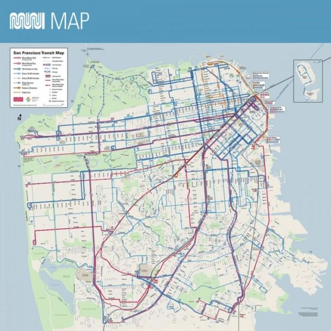 サンフランシスコ バス 路線図