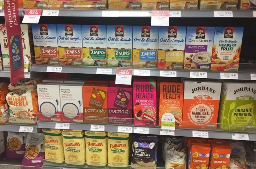 イギリスのスーパーマーケット「ポリッジ」