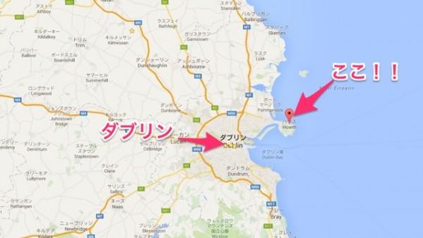 Howthの地図