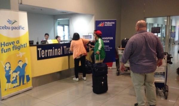 マニラ空港ターミナル3 トランスファーデスク