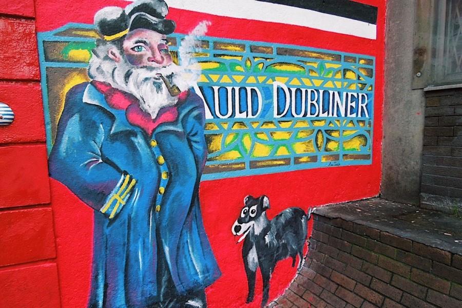アイルランド・ダブリン市内の壁画