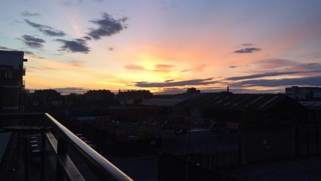 アイルランドの夕焼け