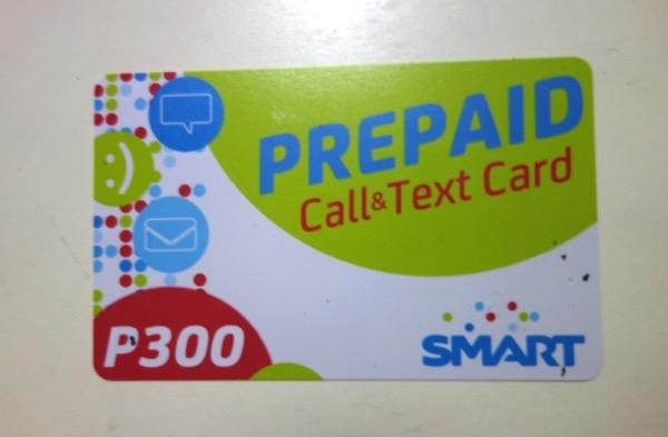 SMARTプリペイドSIMカード