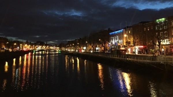 アイルランド ダブリンの夜景