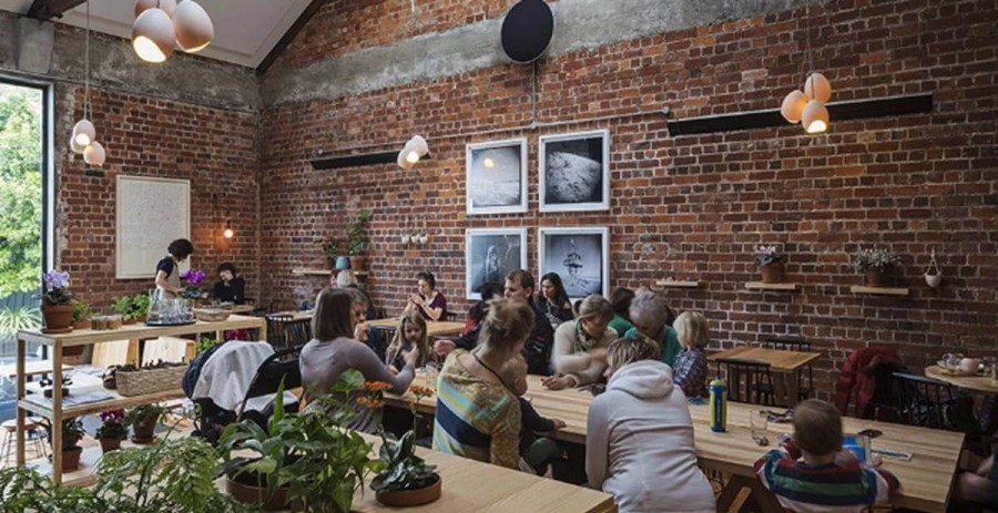オークランドのカフェ